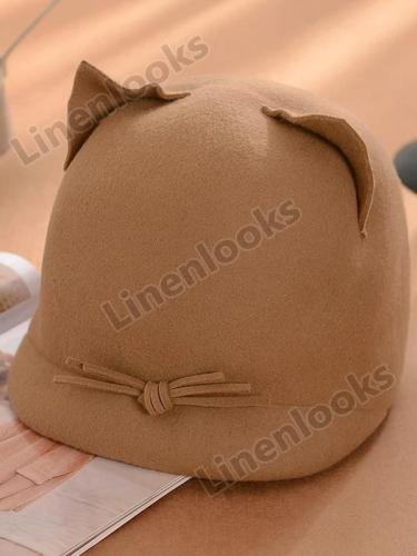 Fashionable Cute Cat Felt Beret Hat