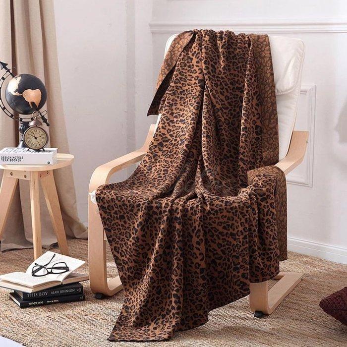 Leopard Knit Wool Blankets