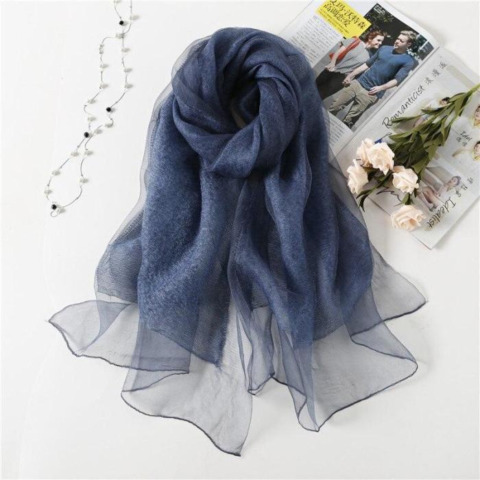 Silk wool scarves soft shawl