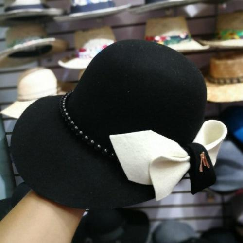 Wool Pearl  Lady Winter Fedoras Cap  Women  Leisure Hat