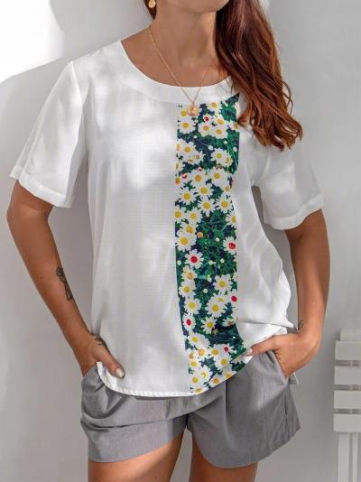 Short Sleeve Cotton Printed Shirts & Tops