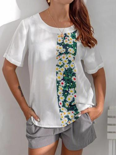 Short Sleeve Cotton Printed Shirts & Tops