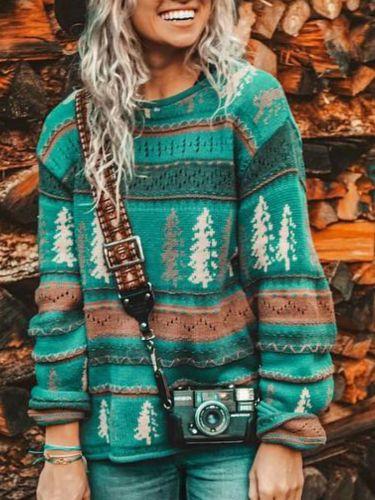 2020 New Womens Sweaters Winter O-Neck Print Pullovers Knit Sweater Women Plus Size Girls Sweaters Fashion Christmas Sweater