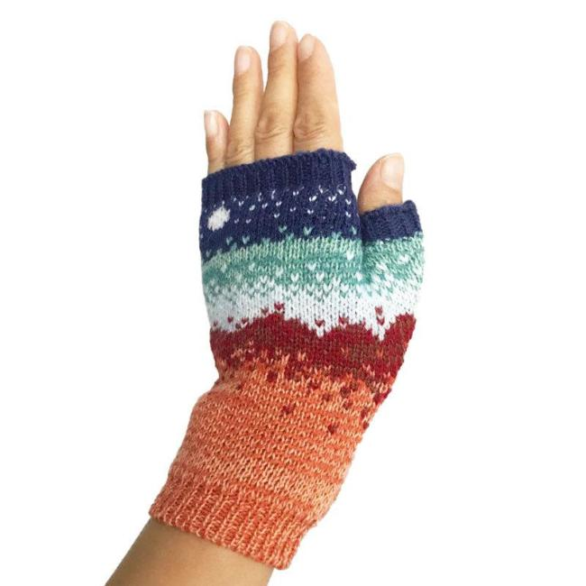 Autumn and Winter Women's Warm Knitted Gloves.