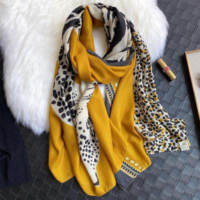 Animal Leopard Print Women Scarf Cotton Spring Winter Warm Scarves Shawl