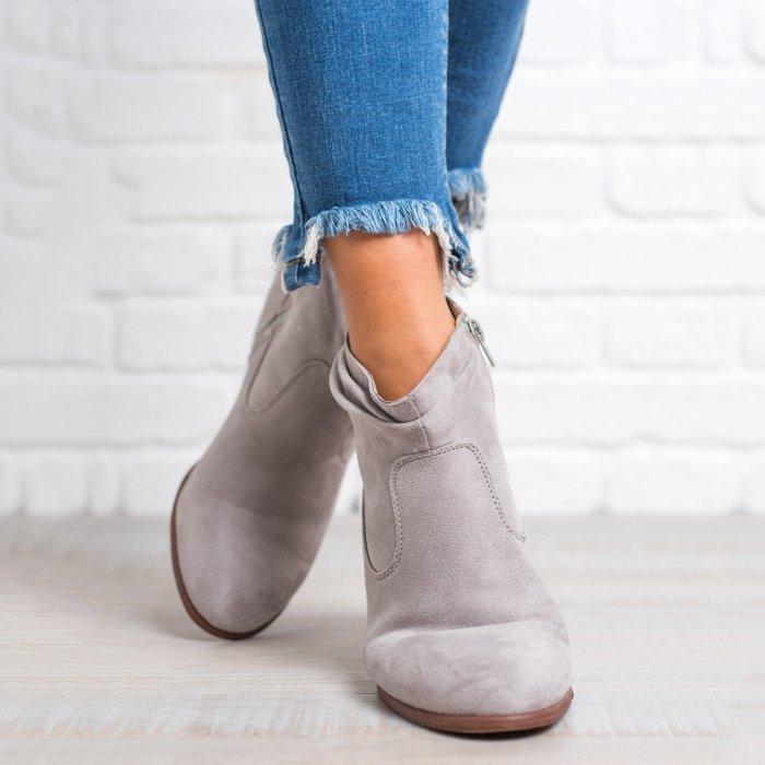 Women Low Heel Ankle Booties Comfort Plus Size