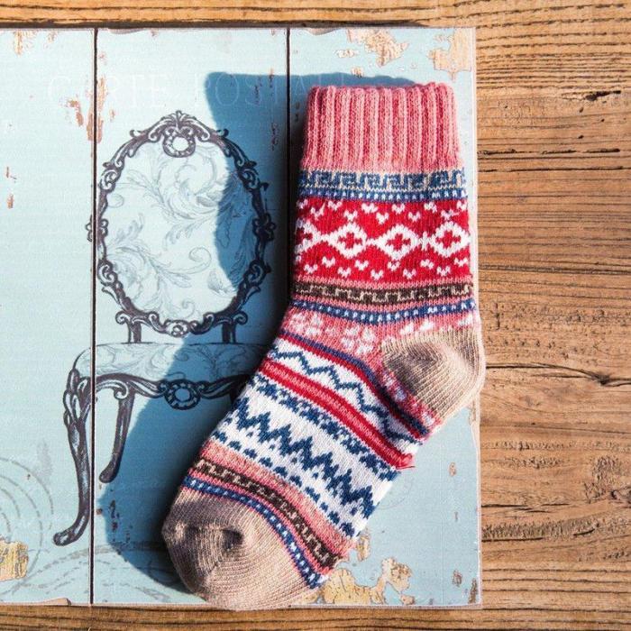 Casual Sheath Tribal Women fuzzy socks