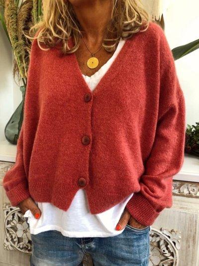 Women Casual Tops Tunic Sweater Cardigan