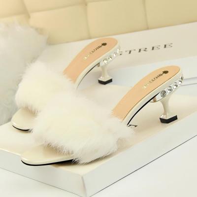Women Sandals Fashion Outdoor Rhinestones High Heel Summer Opened Toe Slippers
