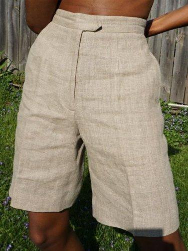 Women's Plus Size Casual Pockets Pants