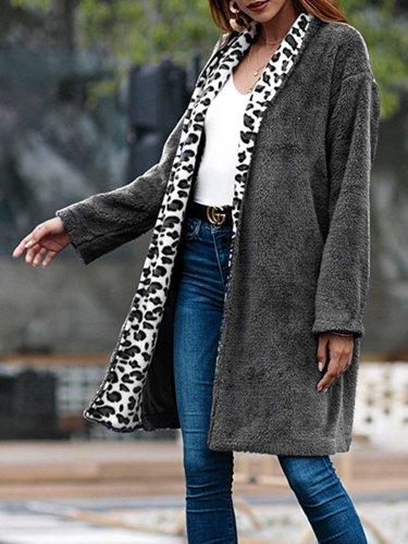Wool Blend Paneled Elegant Teddy Bear Sherpa Coat for Women