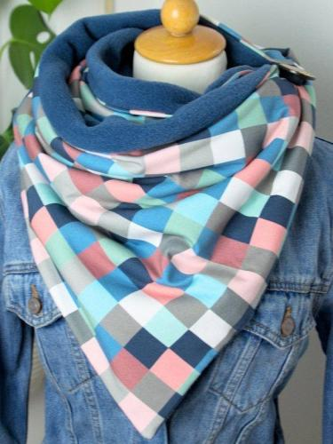 Cotton Checkered/plaid Casual Scarves & Shawls