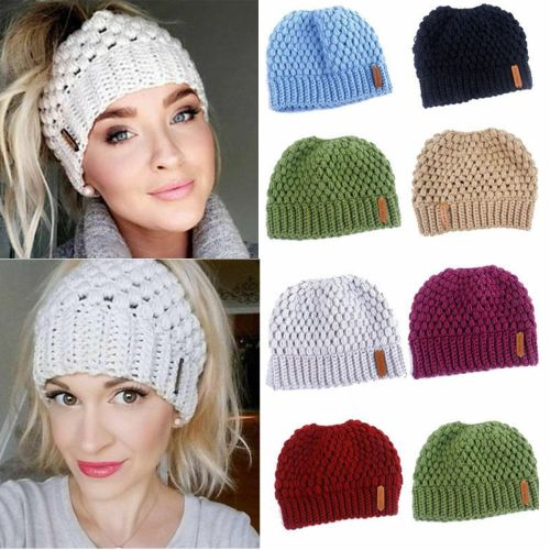 Winter Women Stretch Knit Hat