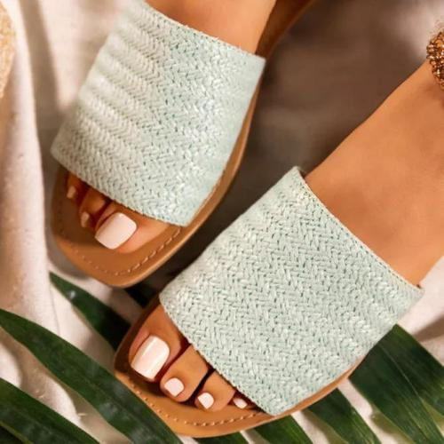 Woven Material Slippers