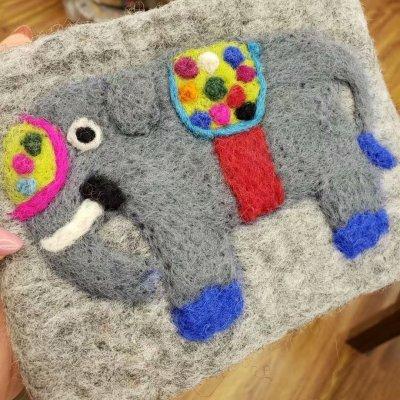 Gray Wool Money Clips