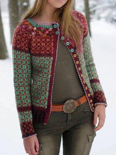 Vintage Tribal Long Sleeve Cardigan