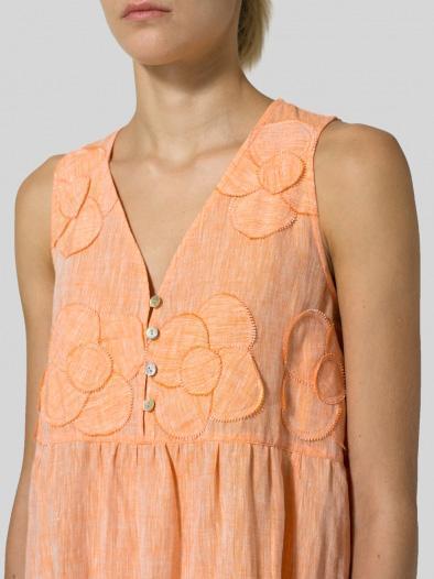 V Neck Casual Sleeveless Buttoned Dresses