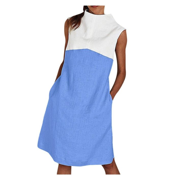 Womens Blouses Solid Girl Shirts Holiday O NeckSolidLadies Summer Beach Party Dress
