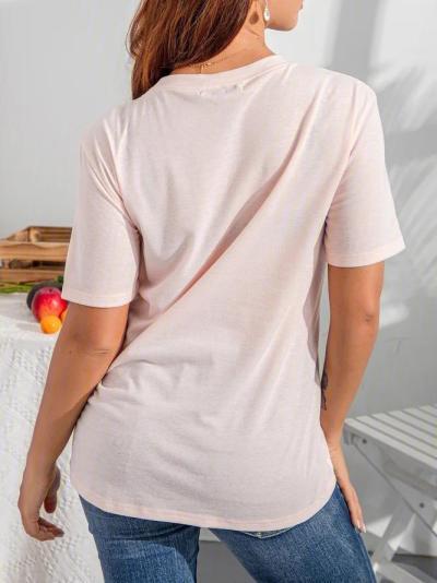 Crew Neck Short Sleeve printed Shirts & Tops