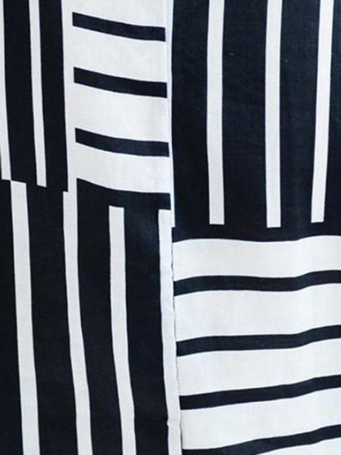 Women Black Striped  Holiday A-Line Daily Pockets Maxi  Dress