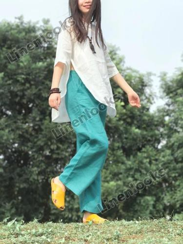 Linen Casual Women's Pants