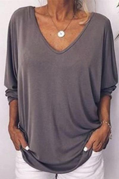 Button-up Bat Sleeves Casual T-shirt