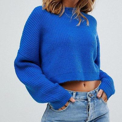 Autumn and Winter New Loose Long-sleeved Wild Pullover Sweater Women Sweater Turtleneck  Girls Sweaters Short