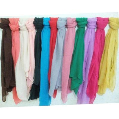 Black/Purple/Yellow/Gray/White 18 Colors Soft Cotton Line Scarves Women Long Large Size Scarf Fashion Solid Color Ladies Wraps