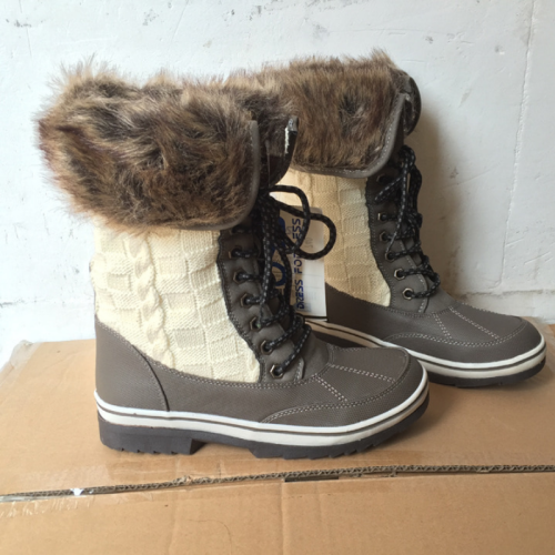 Factory Outlet Outdoor Pu Panel Chunky Heel Boots