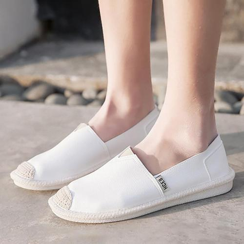 Women Comfortable PU Slip On Loafers