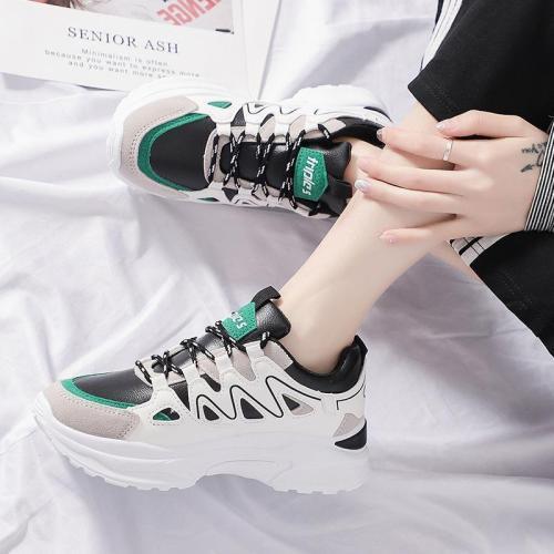 Women's Fashion Casual Colorblock Platform Shoes