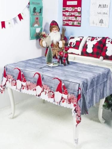 Christmas Dinner Tablecloth Rectangle Decorative Table Covers