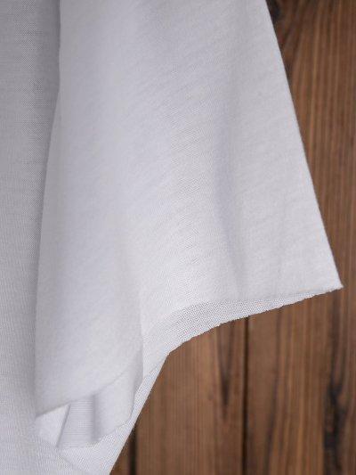 Plus Size Women Short Sleeve Round Neck Vintage Letter Floral Casual Tops
