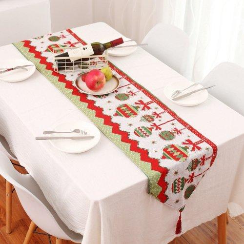 High quality Creative Christmas Cotton Linen Tablecloth