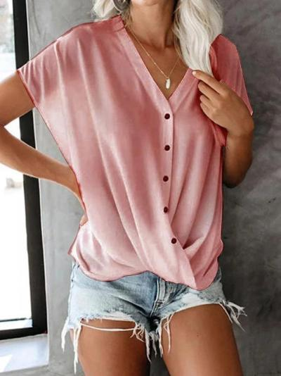 Casual Fashion Plain Blouse & Shirts