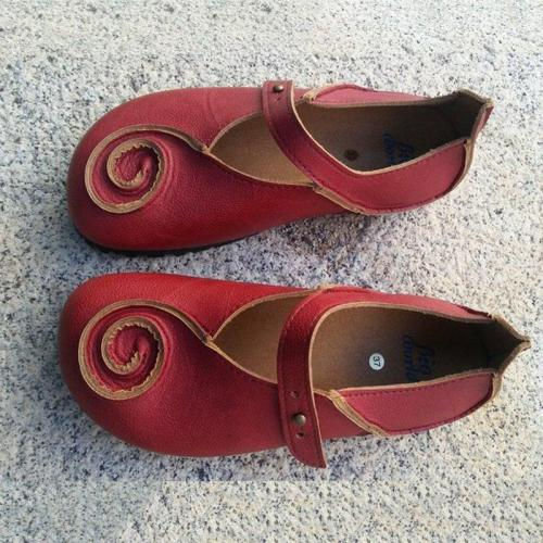 Vintage PU Leather Loafers