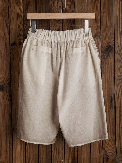 Women Pants Boho Solid Summer Wide Leg Shorts