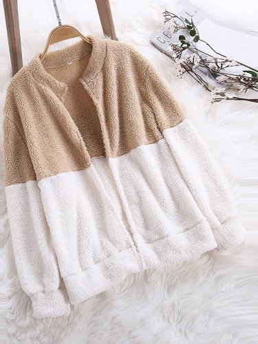 Stand Collar Long Sleeve Sweet Coats
