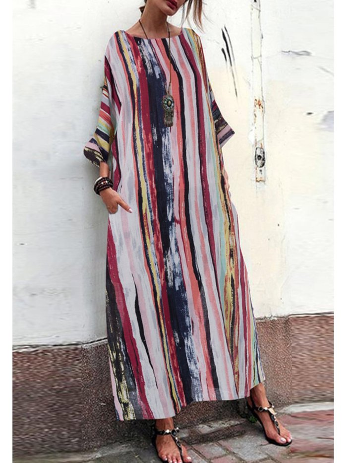 As Picture Long Sleeve Casual Dresses