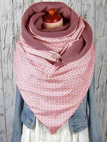 Cotton Geometric Casual Scarves & Shawls