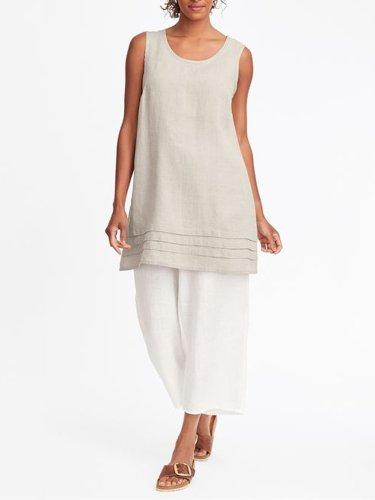 Sleeveless Cotton Shirts & Tops