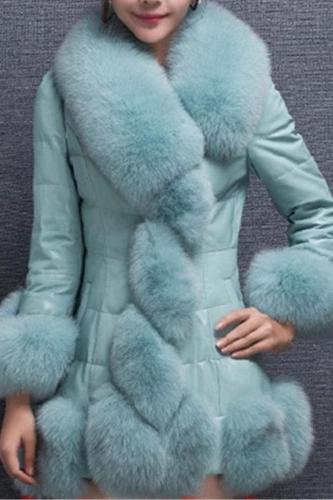 Fashion Long Down Cotton-Padded Jacket