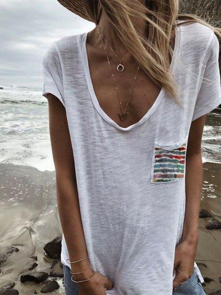 Printed Pocket Casual T-shirt