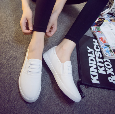 Gray Canvas Spring/Fall Daily Loafers