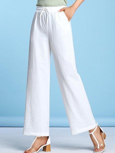 Plus Size Women Plain Casual Wide Leg Shorts