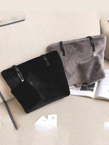 Cotton Zipper Shoulder Bags
