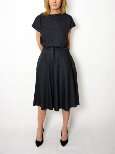 Crew Neck Short Sleeve Dresses