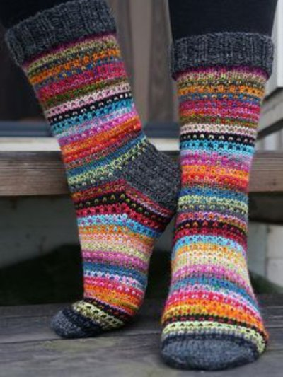 Red Knitted Underwear & Fuzzy Socks