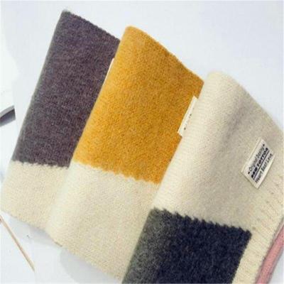 Girls knitting Scarf Winter Wool Matching Crid