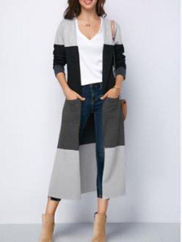 Fashion Round Neck Long Sleeve Cardigan
